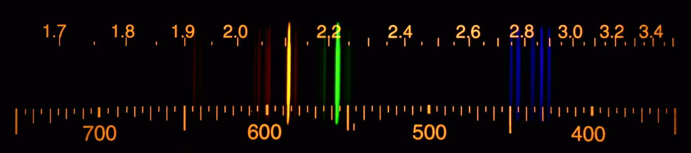 Spectrum of a Krypton ...